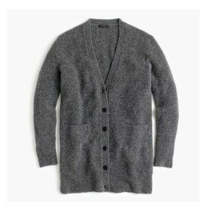 J.Crew Boucle Gray Wool Oversized Cardigan